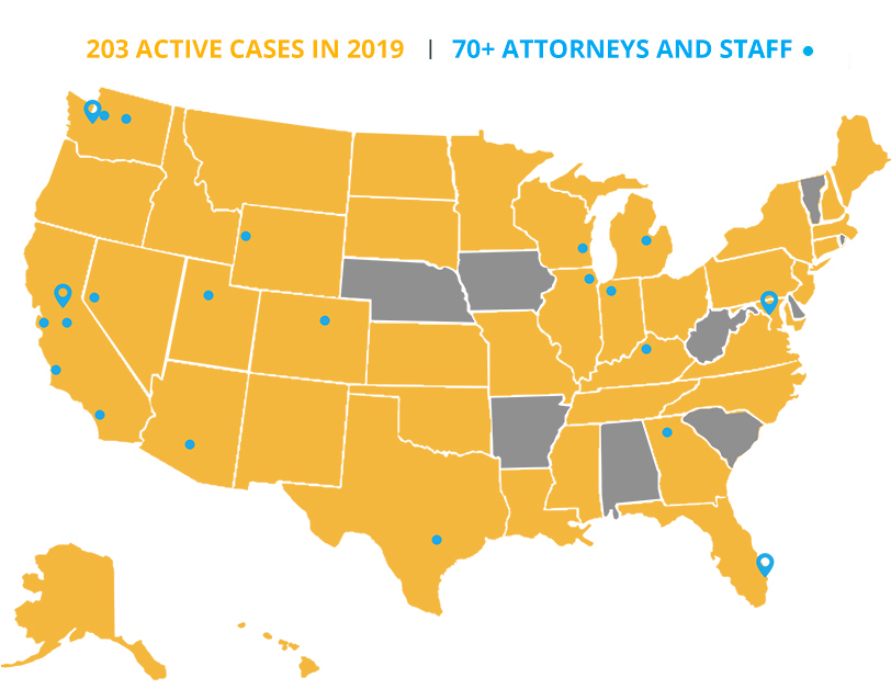 Pacific Legal Foundation 2019 active cases