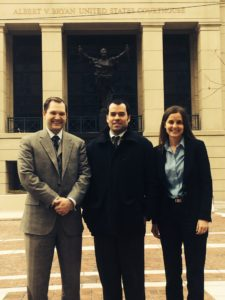 Local counsel Shawn Sheehy (left), Scott McLean (center), PLF attorney Christina Martin (right)