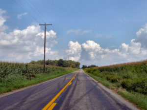 Typical road in Indiana. Photo by Derek Jensen, from Wikimedia Commons