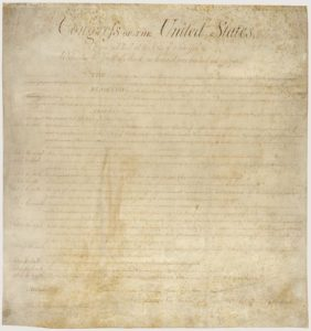 The original is getting harder to read. Do we still know that the Bill of Rights recognizes our rights, rather than creates them?