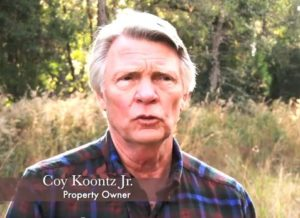 PLF client for taking use of Coy Koontz's property